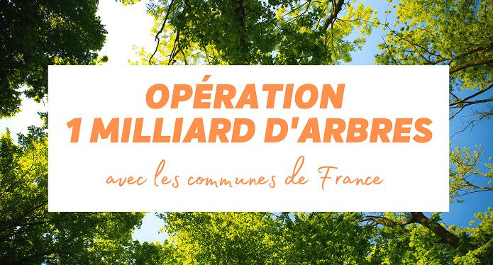 Opération «1 Milliard d'arbres avec les communes de France